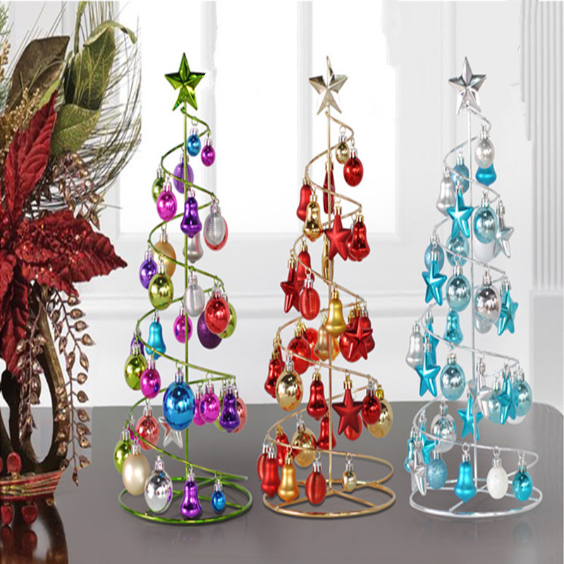 Spiral christmas tree decorations for Small christmas decorations