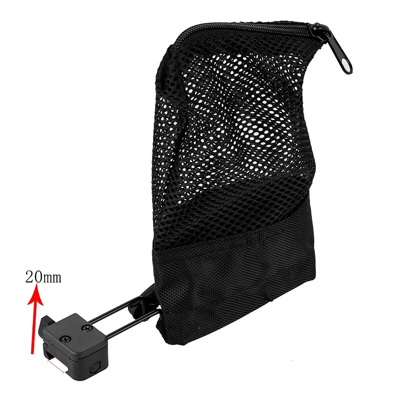 Outdoor Hunting Accessories Ammo Brass Shell Catcher Mesh Trap  Mesh Bag Capture Black Hunting Pouch