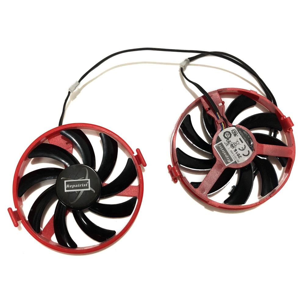 все цены на XFX RX460 R9-380X R7-370 GPU VGA Cooler Cooling Fan For XFX RX460 2gb/4GB R9 380X R7 370 Video Grahics Cards As Replacement онлайн