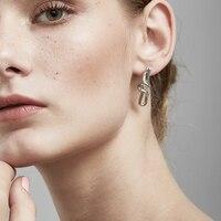 Enfashion Knot Line Stud Earrings Gold Color Ear Jacket Copper Earrings For Women Earings Jewelry Oorbellen