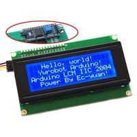 Free Shipping 20x4 Character LCD Module 2004 Character LCD Display 5V Serial IIC I2C TWI For