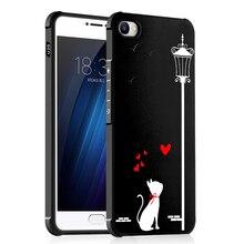Meizu u10 case 3d рельеф печати мультфильм окрашенные soft тпу задняя крышка case для meizu u20 полный защитный противоударный телефон case