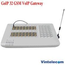 GoIP32 GSM VOIP met 32 SIM poorten GoIP32 voor IP PBX/Router/Ondersteuning bulk SMS en SIM Bank /met korte antennes