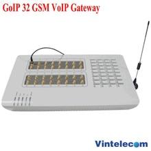 Goip32 gsm voip com 32 portas sim goip32 para ip pbx/roteador/suporte em massa sms e sim bank/com antenas curtas