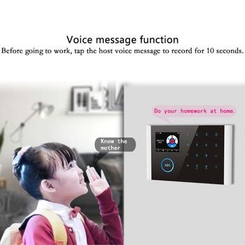 1Set CS108 Wireless WIFI GSM GPRS Smart Alarm System APP Remote Control RFID Card Home Security Kit with Colorful Screen SOS