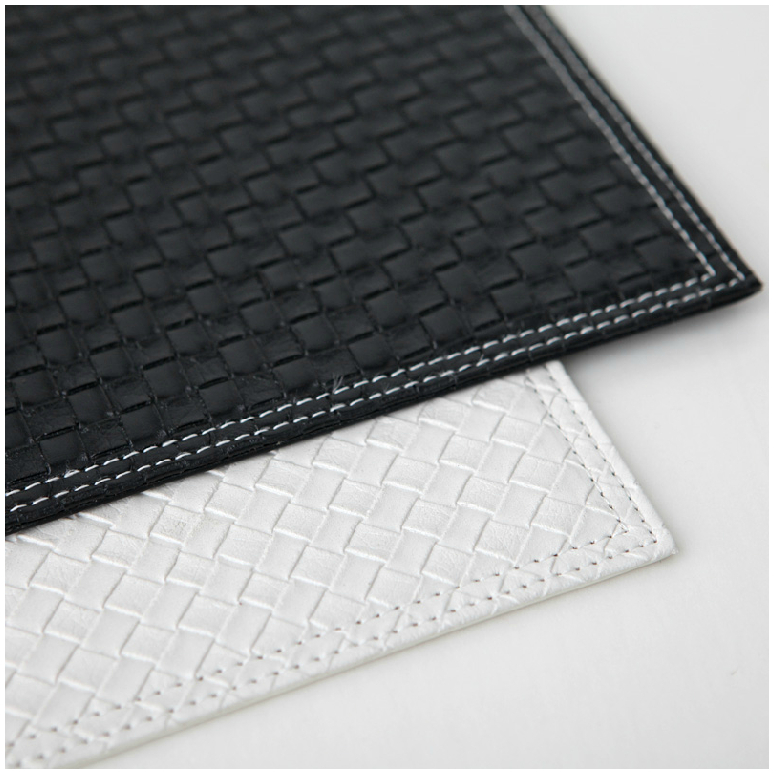 Ordinaire Set Of 4 31*41cm Reversible Faux Leather Rhombus White/Black Placemats Table  Decoration Plate Pad Thick Mat Heat Insulation Pads In Mats U0026 Pads From  Home ...