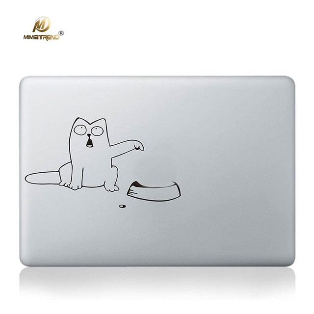 Mimiatrend funny cat decal set laptop skin for macbook pro air retina 11 13 15 inch