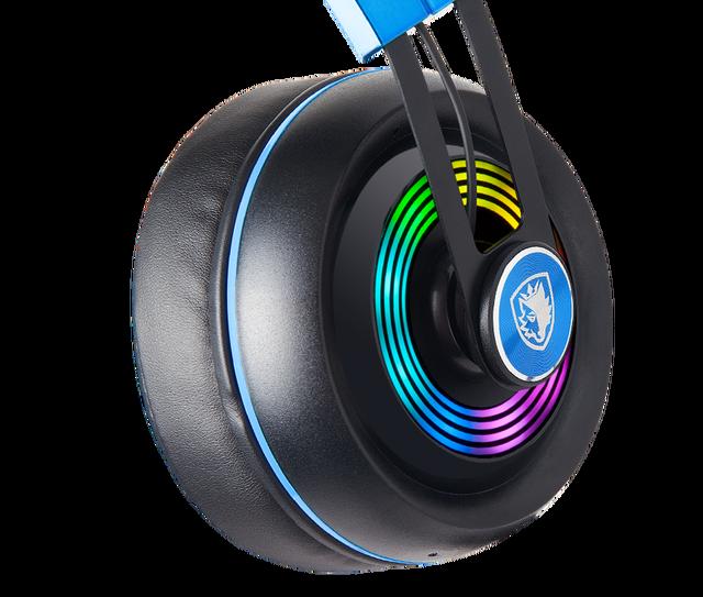 SADES Armor USB Gaming Headset Realtek Gaming Audio Lightweight RGB Lighting Noise-cancellation For PC 2