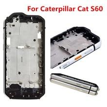 Novo para caterpillar cat s60 telefone b frente escudo superfície substituir caixas quadro 4.7 polegada à prova dshockproof água choque ao ar livre pára choques