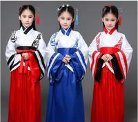 Children women dance costume Hanfu classical dance clothing Chinese ancient girl clothes stage performance period clothing