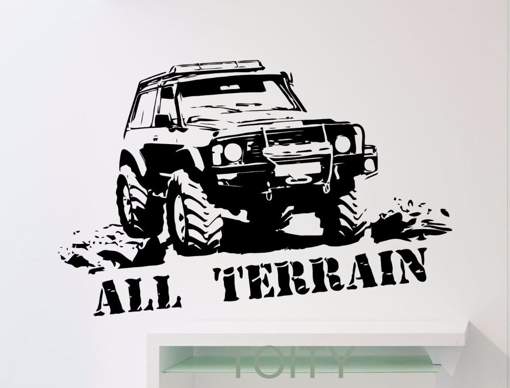 All Terrain Wrangler Monster Truck Car Garage Wall Sticker