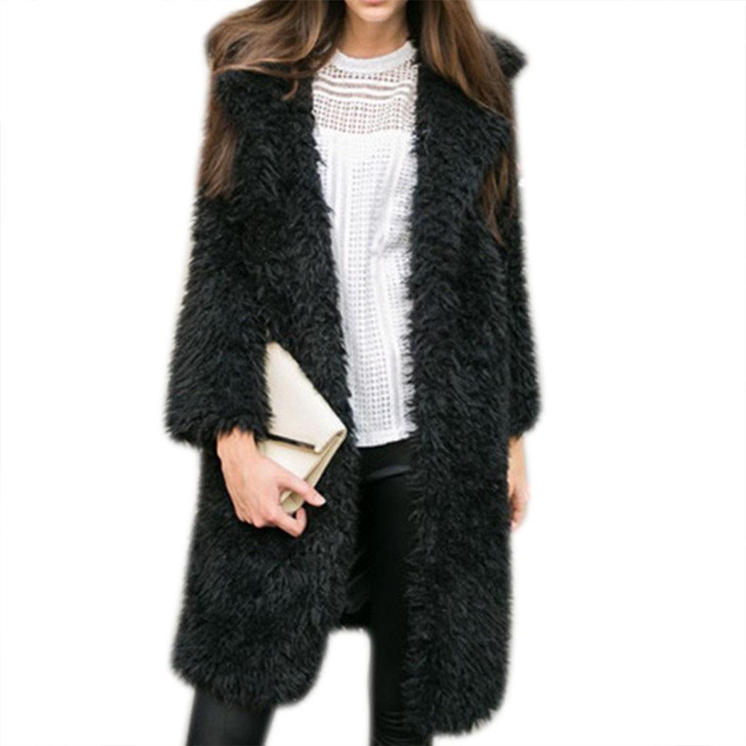 Women Casual Long Coat Jacket Long Sleeve Solid Fashion Warm Outwear Top