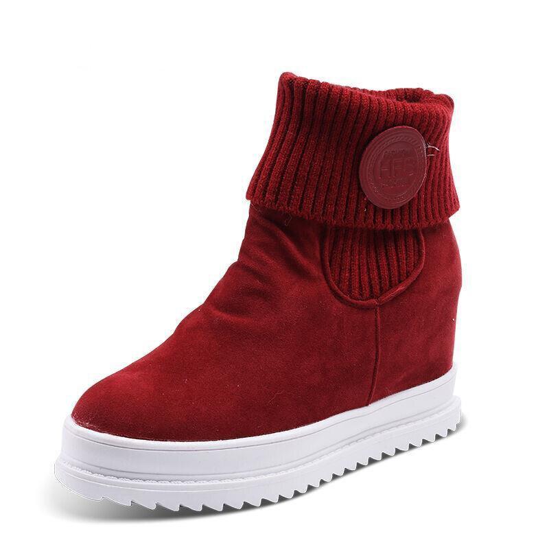 Prix pour Planche à roulettes Chaussures femmes dame hiver chaud sport sneakers 2016 new high top Hauteur Augmentation neige planche à roulettes de marche bottes
