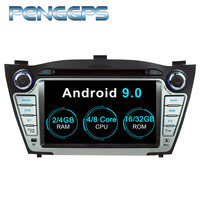 2 Din Car Radio Android 9.0 System for Hyundai Ix35 2009 2015 CD DVD Player GPS Navigation 7 Inch IPS Screen 1024*600 1080P Uni