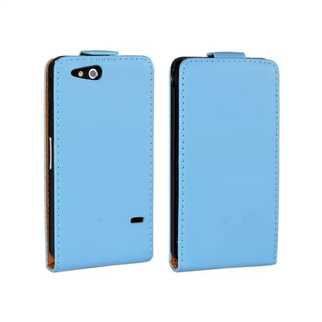 Black Genuine Leather Flip Cover Case for Sony Xperia go ST27i With Magnetic Closure Phone Case Free