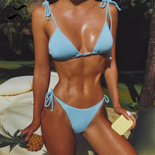 Triangle micro two-piece String swimsuit