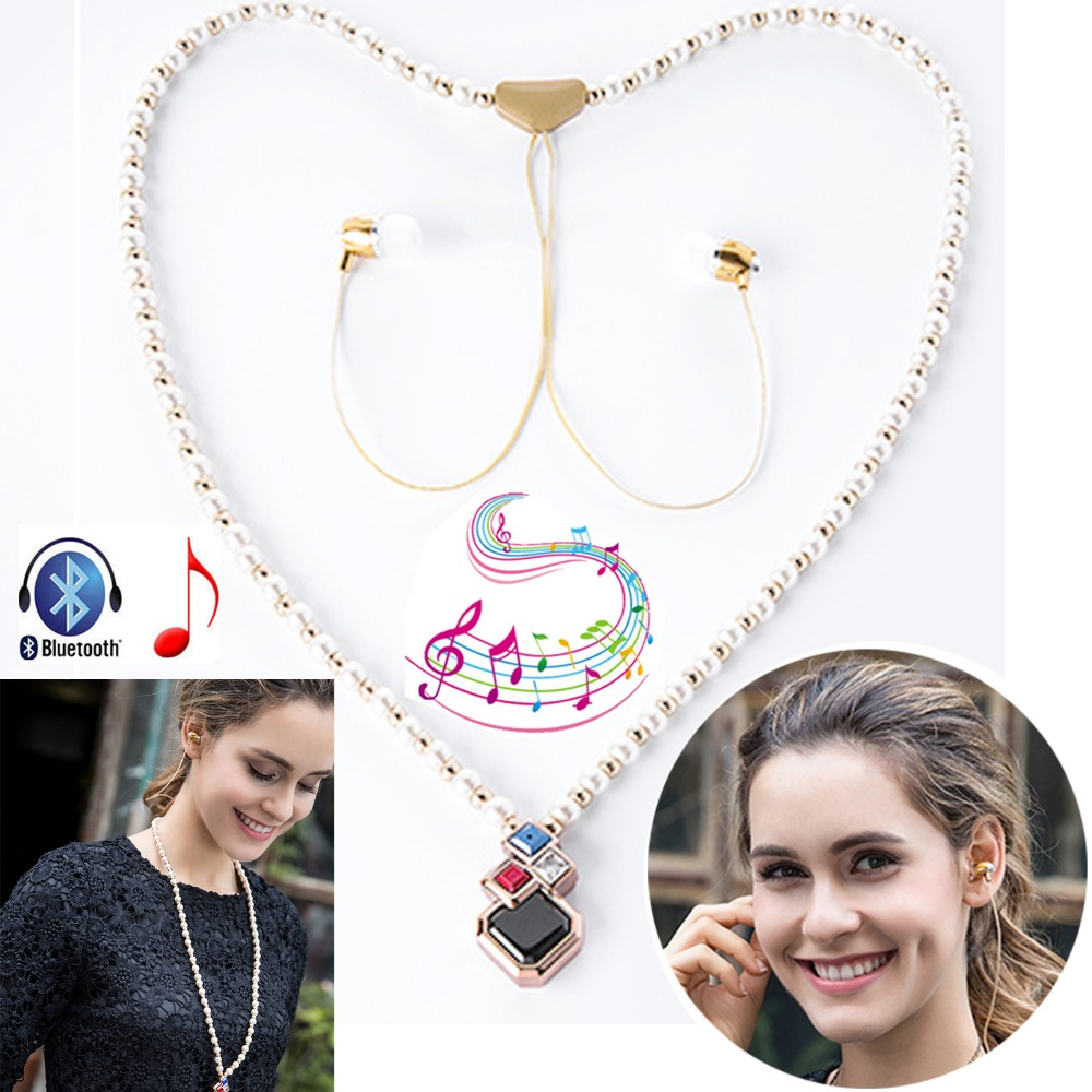 Wireless Earphone Stereo A2DP Bluetooth Headset Necklace Heaphone With Mic Handsfree For Android IOS Cellphones PC Tablet PS3 ihens5 2 in 1 bluetooth earphone usb car charger adapter with mini wireless stereo headset handsfree with mic for cell phone
