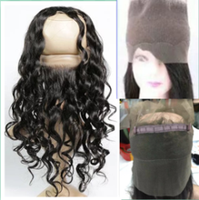 360 Lace Frontal Closure Pre Plucked 8A Lace Frontals With Baby Hair Piece Loose wave Wave Brazilian 360 Lace Virgin Hair Band