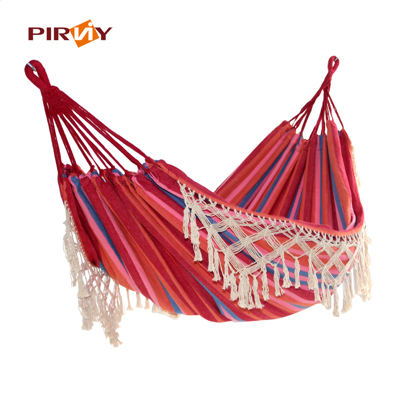 Ultra-Large 2 Person Cotton Hammock With Tassel Garden Swing Bed Outdoor Double Hanging Chair Euro Standard 2 people portable parachute hammock outdoor survival camping hammocks garden leisure travel double hanging swing 2 6m 1 4m 3m 2m