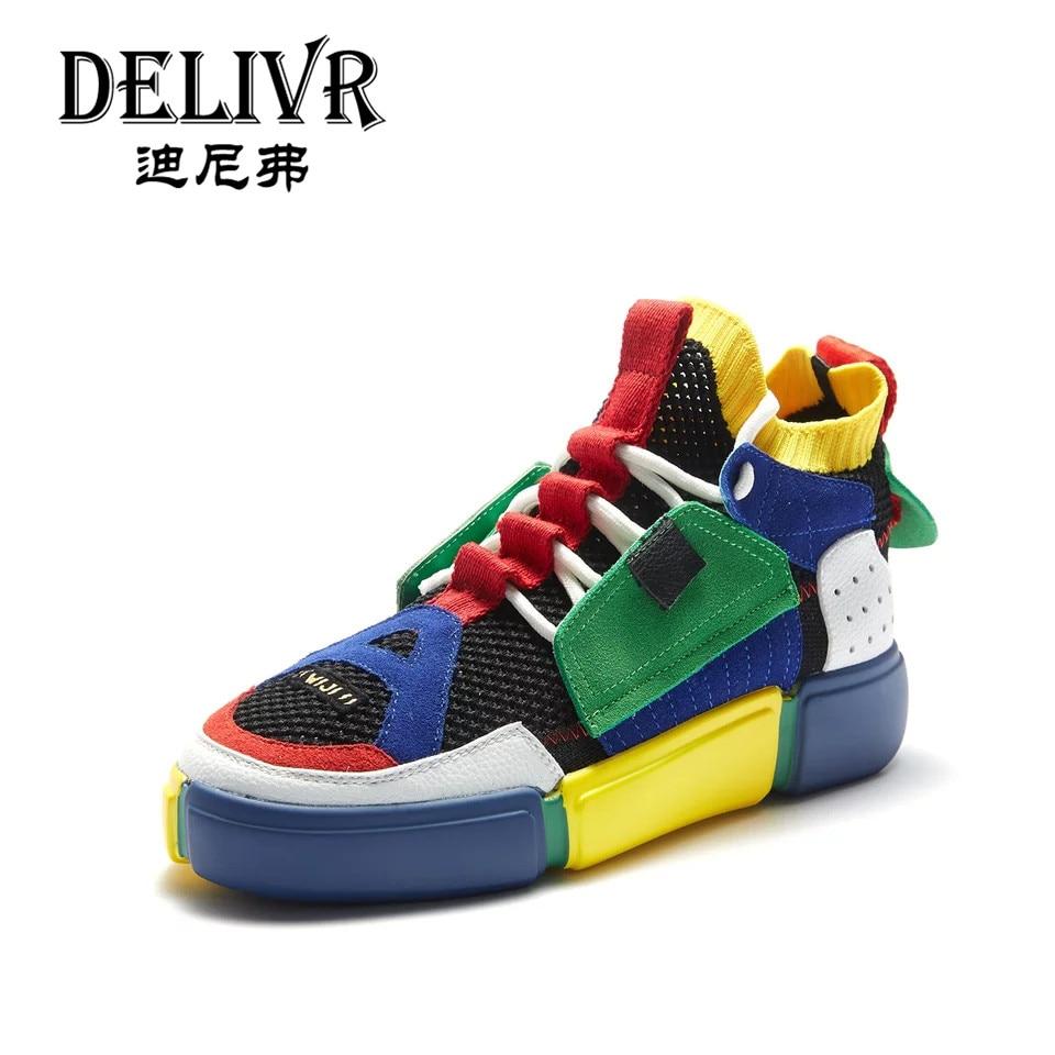 Gruesa Casual Casuales Multicolor Dama Colores multicolor Femenino Suela Zapatillas Zapatos Mezclados Primavera De Delivr Tenis Gray La Mujer xvA6xwgt