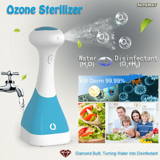 Портативный озона стиральная машина электролитического генератор озона для очистки воды очистки кухня туалет дезинфицирующим раствором