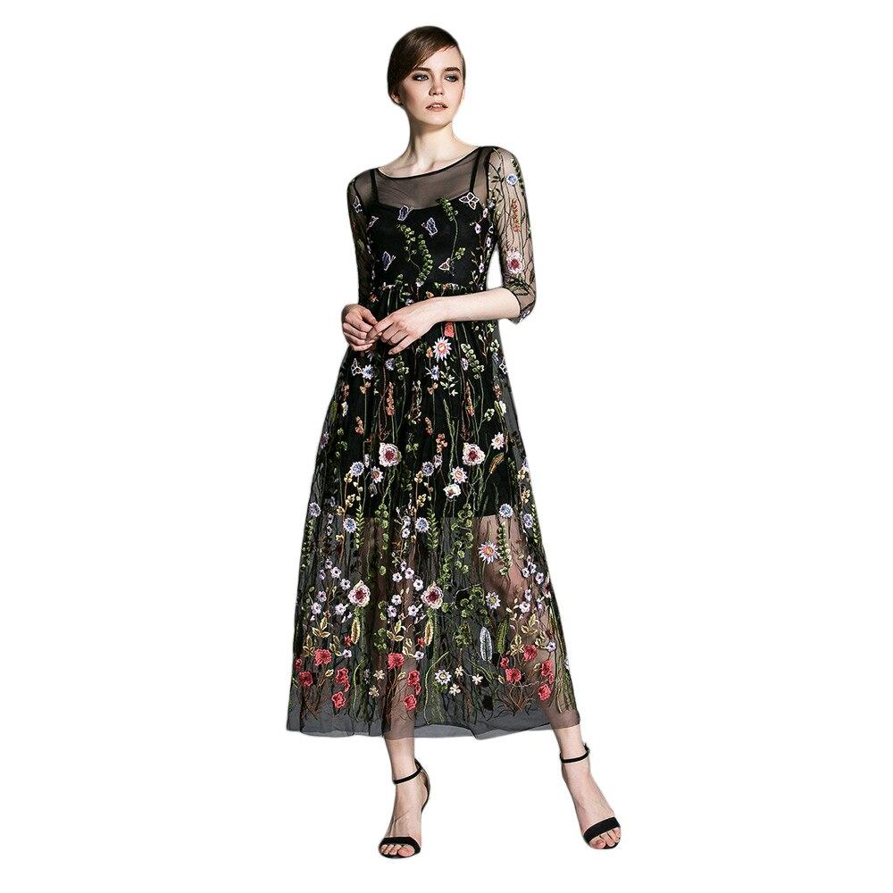 ZAFUL Plus Size Runway Dresses 2017 Gorgeous Bohemian Sheer Mesh ...