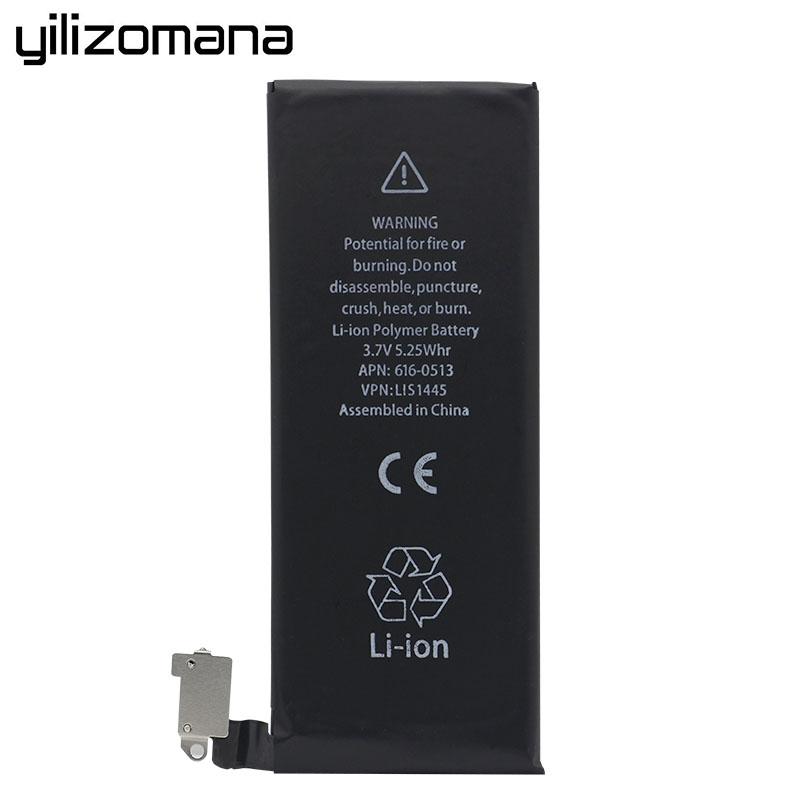 YILIZOMANA Original Mobile Phone Battery For Apple iPhone 4 4G Capacity 1420mAh Genuine Replacement Li ion battery Free Tools in Mobile Phone Batteries from Cellphones Telecommunications