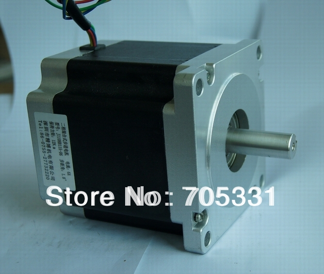 4wires Nema42 (110BYGH) Hybrid stepper motor J110HB115-06 115mm/ 6A/ 1715oz-in (12N.m) CNC Router