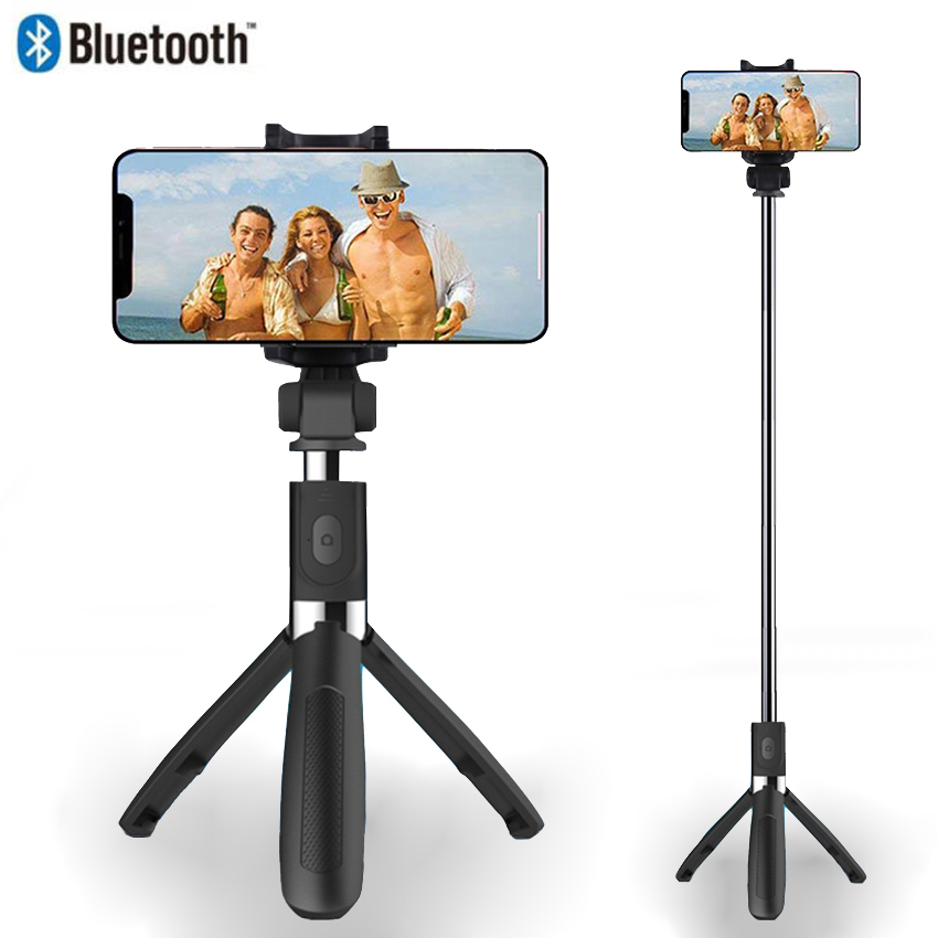 Briame New 3 in 1 selfie stick bluetooth wirless selfie stick tripod for smartphone monopod for mobile phone magnetic attraction bluetooth earphone headset waterproof sports 4.2