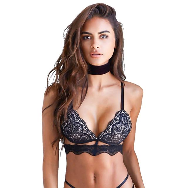 Nouveau mode femmes sexy lingerie chic r glable large bretelles des soutiens gorge noir sexy - Bustier femme chic ...