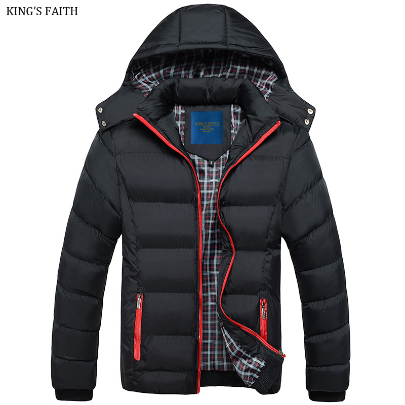 KING'S FAITH Winter Jacket Men's Parkas Thick Hooded Coats Men Warm Casual Jackets Male Outerwear Brand Clothing 7316 free shipping winter parkas men jacket new 2017 thick warm loose brand original male plus size m 5xl coats 80hfx