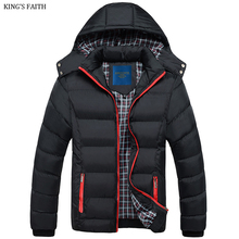 KING'S FAITH Winter Jacket Men's Parkas Thick Hooded Coats Men Warm Casual Jackets Male Outerwear Brand Clothing 7316
