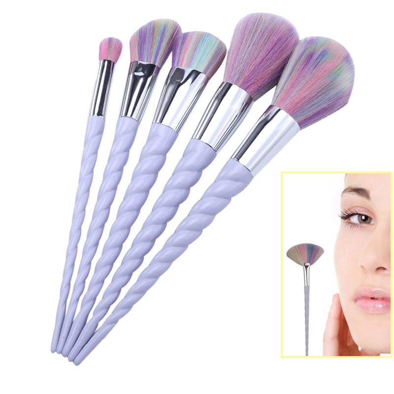 все цены на 5pcs makeup brush set Eye Shadow Lip Brush make up Brushes Face Concealer Foundation Powder Blusher Tools онлайн