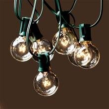Estándar Americano 110V luces colgantes al aire libre patio jardín lámpara cadena boda decorativa G40 Edison bombilla de tungsteno Vintage