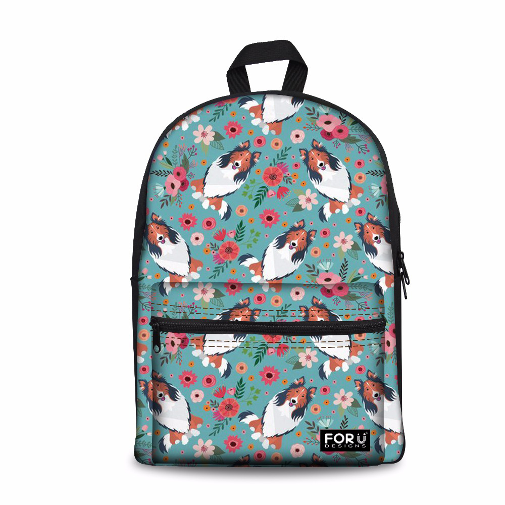 Customized Canvas School <font><b>Backpack</b></font> for Te