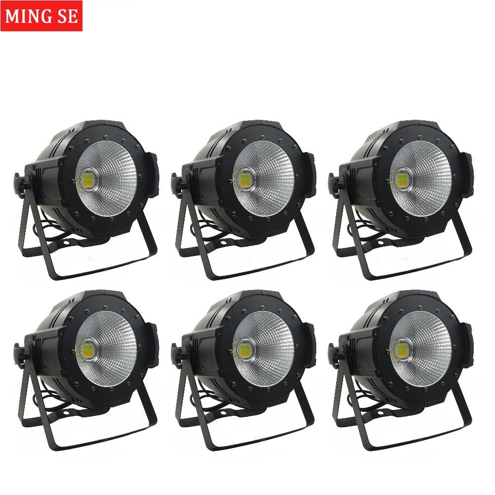 6units LED Par COB Light 100W High Power Aluminium DJ DMX Led Beam Wash Strobe Effect Stage Lighting,Cool White and Warm White