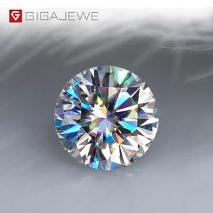 Image 1 - GIGAJEWE D カラー 1 3ct VVS1 モアッサルースダイヤモンドテスト合格トップ品質証明書ラボ宝石ジュエリーメイキングのために