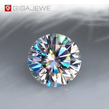 GIGAJEWE Real D Color 1-3ct Round Moissanite Loose Top Quality With Certificate Diamond Test Passed Gem For Jewelry Making