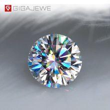GIGAJEWE Real D Color 1-3ct Round Moissanite Loose Top Quality con certificato Lab Diamond Test superato gemma per la creazione di gioielli
