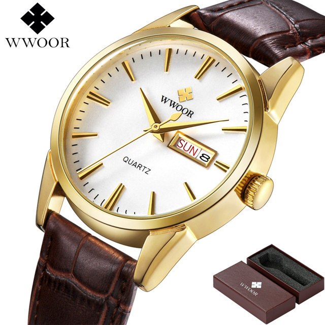 WWOOR Unisex Luxury Hour Date Montre Homme Quartz Watches 1