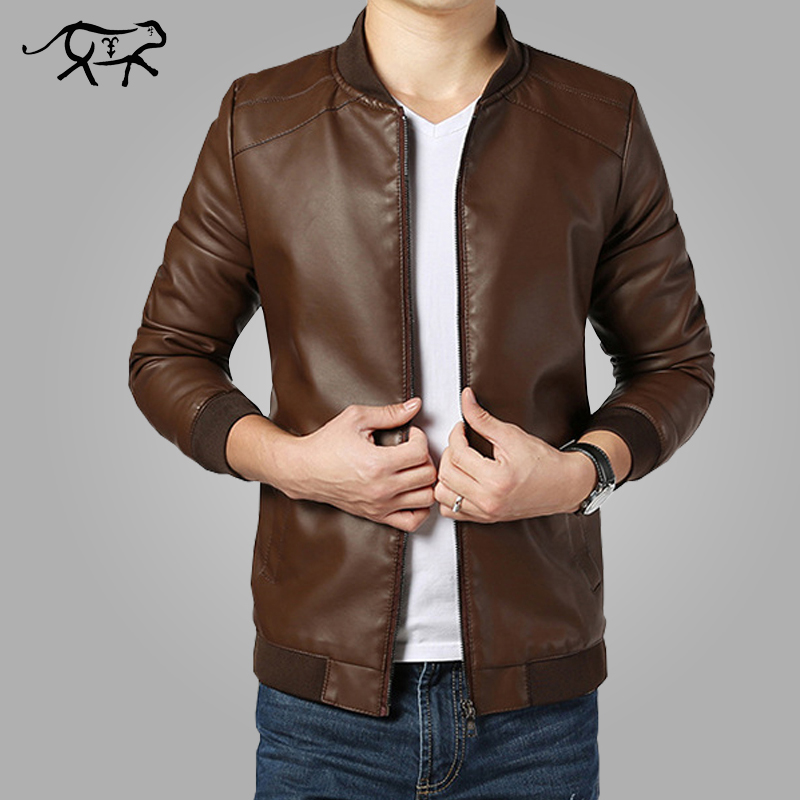 2018 New Arrival Leather Jackets Men's Jacket Male Outwear Men's Coats Spring & Autumn PU Jacket De Couro Coat Plus Size M-4XL