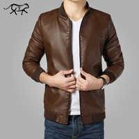 2018 nouveauté vestes en cuir hommes veste vêtements pour hommes hommes manteaux printemps et automne veste en cuir synthétique polyuréthane De Couro manteau grande taille M-4XL