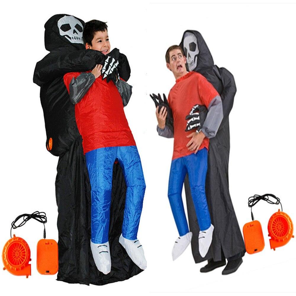 Halloween Terror of death grim Reaper Inflated Garment Cosplay Adult children Cosplay spoof costumes for Halloween parties