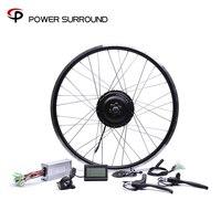 Apressado 48v500w bafang traseiro cassete kit de conversão bicicleta elétrica sem escova hub motores 20 26 26 26 282828diy roda do motor