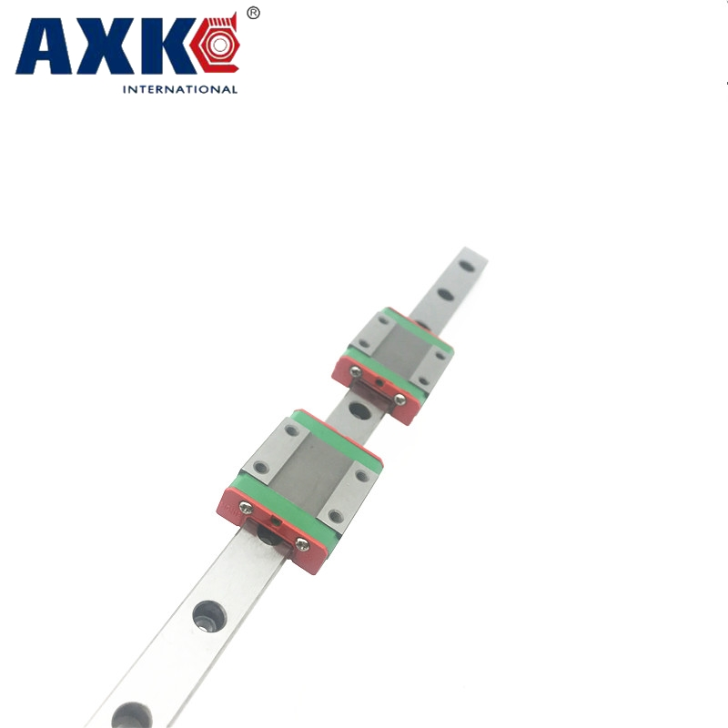 2pcs 15mm miniature linear guide MGN15 L= 800mm rail + 4pcs MGN15H CNC block for 3D printer parts XYZ cnc parts high quality 15mm precision linear guide rail 2pcs trh15 l 650mm 4pcs trh15a flange block for cnc