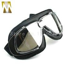 Il trasporto libero Occhiali di protezione del CASCO Aperto del fronte off road del casco del motociclo di motocross Occhiali occhiali Scooter Occhiali lenti argento