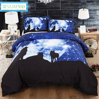 BEST.WENSD Star Wolf bedding set luxury bed covers and comforters kids full queen california king 3D bedclothes no bed sheet