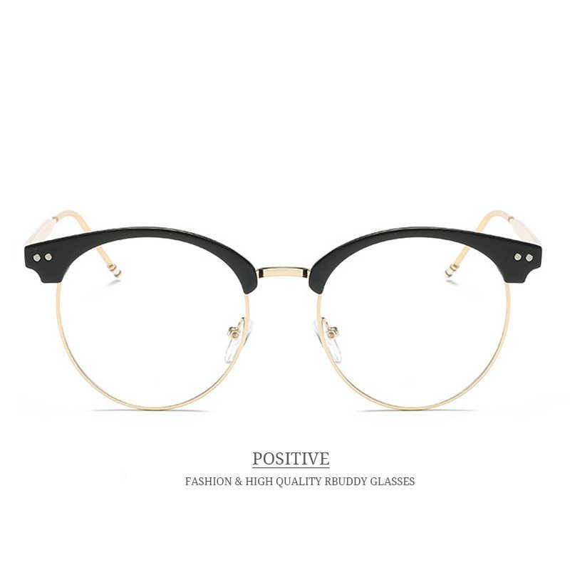 c8ec86ab61 ... RBUDDY Round Transparent Glasses Fake Computer Reading Glasses Clear  Lens Men Women Optical Eyewear Metal Eyeglasses ...