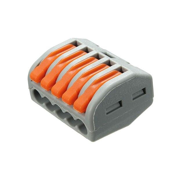 Купить 100 шт 5 булавки Весна Клеммный блок электрический кабель провода разъем и другие товары категории Наборы ручных инструментов в магазине Zenpan Store на AliExpress Наборы ручных инструментов