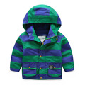 Menino grosso casaco de veludo com zíper casaco cardigan capuz tarja outwear blusão de inverno crianças